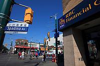 Toronto (ON) CANADA - July 2012 -  Toronto  Chinatown, Royal bank of canada (RBC)