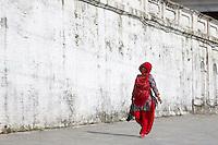 Woman Entering Pashupatinath, Nepal