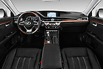 Stock photo of straight dashboard view of 2017 Lexus ES 350 4 Door Sedan 2WD Dashboard