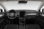 Stock photo of straight dashboard view of 2020 Volvo XC40 Momentum 5 Door SUV Dashboard