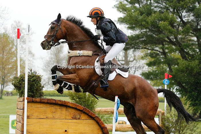 April 24, 2021: #64 Deniro Z and rider Elisabeth Halliday-Sharp in the Cross Country test at the Land Rover Three Day Event at the Kentucky Horse Park in Lexington, KY on April 24, 2021.  Candice Chavez/ESW/CSM