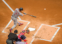 29 May 2016: St. Louis Cardinals outfielder Matt Holliday in action against the Washington Nationals at Nationals Park in Washington, DC. The Nationals defeated the Cardinals 10-2 to split their 4-game series. Mandatory Credit: Ed Wolfstein Photo *** RAW (NEF) Image File Available ***