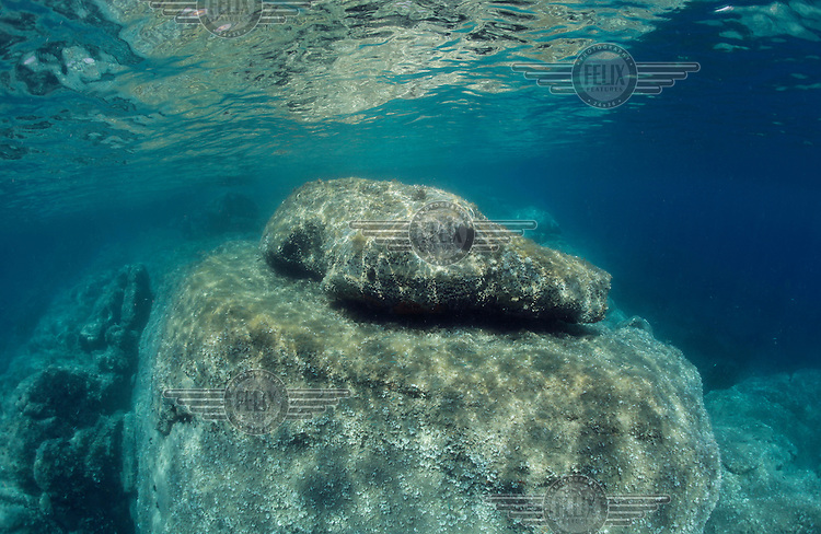 Underwater seascapes along the Western and Northern coast of Sardinia. This part of the Mediterranean have some of the clearest waters of this sea.