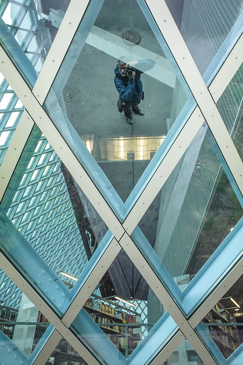 Seattle Central Public Library, self portrait