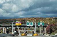 E-Z Pass toll both, Pennsylvania, USA