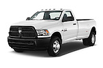 2018 Ram Ram-3500-Pickup Tradesman-Regular-cab 4 Door Pick-up Angular Front stock photos of front three quarter view