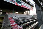 08.11.2020, Dietmar-Scholze-Stadion an der Lohmuehle, Luebeck, GER, 3. Liga, VfB Luebeck vs KFC Uerdingen 05 <br /> <br /> im Bild / picture shows <br /> Geisterspiel auf der Lohmuehle, bedingt durch Corona sind keine Zuschauer zugelassen. Auf der Holztriebuene sind die Sitzte abmontiert<br /> <br /> DFB REGULATIONS PROHIBIT ANY USE OF PHOTOGRAPHS AS IMAGE SEQUENCES AND/OR QUASI-VIDEO.<br /> <br /> Foto © nordphoto / Tauchnitz