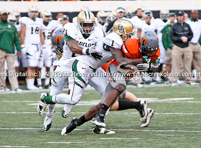 Baylor Bears wide receiver Kendall Wright (1) in action during the game between the Baylor Bears and the Oklahoma State Cowboys at the Boone Pickens Stadium in Stillwater, OK. Oklahoma State defeats Baylor 59 to 24.