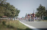 peloton led by Stefan Küng (SUI/BMC) chasing<br /> <br /> 12th Eneco Tour 2016 (UCI World Tour)<br /> stage 3: Blankenberge-Ardooie (182km)