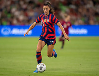 AUSTIN, TX - JUNE 16: Alex Morgan #13 of the USWNT dribbles during a game between Nigeria and USWNT at Q2 Stadium on June 16, 2021 in Austin, Texas.