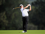 TAIPEI, TAIWAN - NOVEMBER 20:  Lorens Chan of USA plays a shot on the 2nd hole during day three of the Fubon Senior Open at Miramar Golf & Country Club on November 20, 2011 in Taipei, Taiwan. Photo by Victor Fraile / The Power of Sport Images