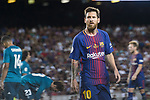 Lionel Messi of FC Barcelona in action during the Supercopa de Espana Final 1st Leg match between FC Barcelona and Real Madrid at Camp Nou on August 13, 2017 in Barcelona, Spain. Photo by Marcio Rodrigo Machado / Power Sport Images