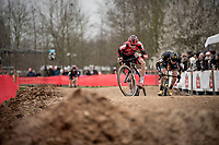 Michael Vanthourenhout (BEL/Pauwels Sauzen - Bingoal) 'dancing' over the dirt pump track<br /> <br /> Elite + U23 Men's Race<br /> CX GP Leuven (BEL) 2020<br />  <br /> ©kramon