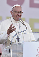 Pope Francis  during The Golden Jubilee of the Catholic Charismatic Reneval at the Circo Massimo in Rome, Italy on June 3, 2017