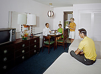 Bahama Motel, Margate NJ motel room. 1960.