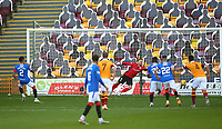 27th September 2020; Fir Park, Motherwell, North Lanarkshire, Scotland; Scottish Premiership Football, Motherwell versus Rangers; James Tavernier of Rangers makes it 3-0 to Rangers scoring his second penalty of the match in the 38th minute