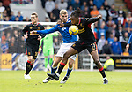 St Johnstone v Rangers…11.09.21  McDiarmid Park    SPFL<br />Jo Aribo fends off David Wotherspoon<br />Picture by Graeme Hart.<br />Copyright Perthshire Picture Agency<br />Tel: 01738 623350  Mobile: 07990 594431