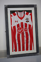 A Southampton top be sold at auction by Swansea City FC Community Trust. Fairwood Training Complex in Swansea, Wales, UK. Wednesday 29 March 2017