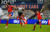 31st October 2020; Liberty Stadium, Swansea, Glamorgan, Wales; English Football League Championship Football, Swansea City versus Blackburn Rovers; Andre Ayew of Swansea City scores his sides second goal in the 61st minute to make the score 2-0