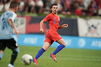 St. Louis, MO - SEPTEMBER 10: Daniel Lovitz #16 of the United States keeps his eyes on the ball during their game versus Uruguay at Busch Stadium, on September 10, 2019 in St. Louis, MO.