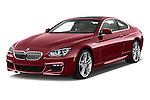2016 BMW 6 Series 650i 3 Door Coupe Angular Front stock photos of front three quarter view