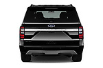 Straight rear view of a 2019 Ford Expedition XLT MAX 4x2 5 Door SUV stock images