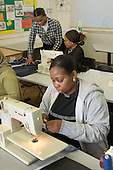 Sewing class for the local community at Wilberforce Primary School, Queens Park, London,