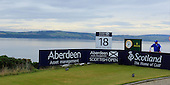 General view of the 18th tee during round three of the 2016 Aberdeen Asset Management Scottish Open played at Castle Stuart Golf Golf Links from 7th to 10th July 2016: Picture Stuart Adams, www.golftourimages.com: 09/07/2016
