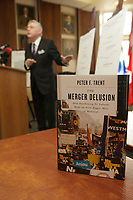 Peter Trent, Mayor of Westmount launch his book THE MERGER DELUSION - LA FOLIE DES GRANDEUR about the fusion of Montreal island various cities into one and the following defusions of some cities a few years later, NOvember 12, 2012