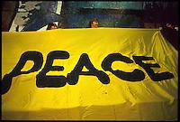 manifestazione per la pace,donne in nero, carovana per la pace 1992