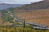 James Dalton Highway, commonly called the Haul Road, Trans Alaska oil pipeline, Alaska.