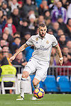 Karim Benzema of Real Madrid in action during their La Liga match between Real Madrid and Real Sociedad at the Santiago Bernabeu Stadium on 29 January 2017 in Madrid, Spain. Photo by Diego Gonzalez Souto / Power Sport Images