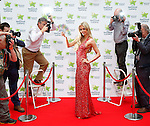 """No Repro Fee.<br /> <br /> """"Cannes"""" you win the €60 million EuroMillions jackpot?<br /> <br /> The Cannes Film Festival is in full swing and Friday's (23/5/14) EuroMillions jackpot is an estimated €60 million. To celebrate, international socialite Rosanna Davison will be hoping that one lucky player """"Cannes"""" win the life changing jackpot. Rosanna brought some Hollywood red carpet glamour to Dublin for a special shoot, gracing a specially created National Lottery Cannes inspired red carpet, avoiding the paparazzi and hoping that one lucky player will take home the top prize of €60 million. Pic. Robbie Reynolds"""