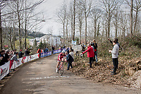 Tony Martin (DEU/Katusha-Alpecin) trying to cross the gap towards the breakaway group up the Baneberg<br /> <br /> 79th Gent-Wevelgem 2017 (1.UWT)<br /> 1day race: Deinze › Wevelgem - BEL (249km)