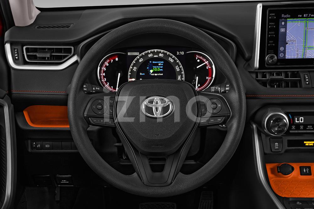Car pictures of steering wheel view of a 2019 Toyota RAV4 Adventure 5 Door SUV