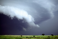 A High-Precipitation supercell engulfs the prairies of southern Nebraska on June 16th, 1990. Earlier, this storm produced a tornado along with golfball-size hail near Republican City.