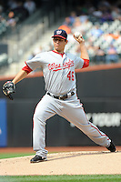 Washington Nationals pitcher Tom Milone #46 during a game against the New York Mets at Citi Field on September 15, 2011 in Queens, NY.  Nationals defeated Mets11-1.  Tomasso DeRosa/Four Seam Images