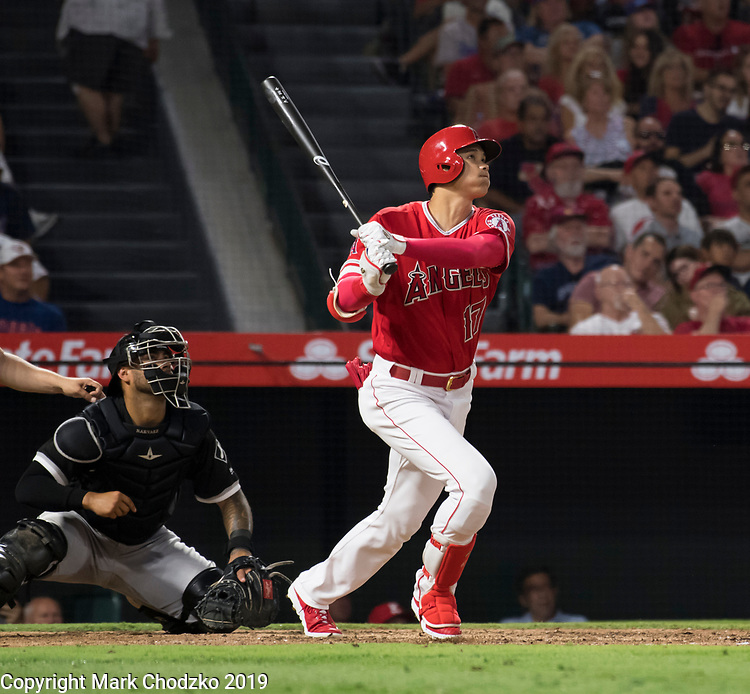 """L.A. Angels Shohei Ohtani """"goes yard"""" against the Chicago White Sox."""