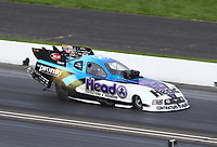 Aug 9, 2020; Clermont, Indiana, USA; NHRA funny car driver Blake Alexander during the Indy Nationals at Lucas Oil Raceway. Mandatory Credit: Mark J. Rebilas-USA TODAY Sports