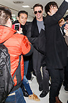 Exclusive: Australian actor Hugh Jackman arrives at Narita International Airport on February 12, 2018, Chiba, Japan. Jackman spent time to greet fans who were anxiously waiting for him at the arrival lobby. He is in Japan to promote his movie ''The Greatest Showman'' which opens in Japan on February 16. (Photo by Rodrigo Reyes Marin/AFLO)