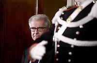 Democratic Party' s representatives Luigi Zanda arrives at a press point after a meeting with Italian President Sergio Mattarella at the Quirinale Palace, on December 10, 2016.<br /> UPDATE IMAGES PRESS/IsabellaBonotto