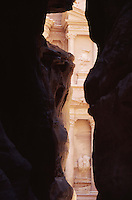 The entrance to the iconic ruins at Petra, Jordan