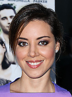 HOLLYWOOD, LOS ANGELES, CA, USA - AUGUST 06: Actress Aubrey Plaza arrives at the Los Angeles Premiere Of Screen Media Films' 'About Alex' held at ArcLight Hollywood on August 6, 2014 in Hollywood, Los Angeles, California, United States. (Photo by Xavier Collin/Celebrity Monitor)