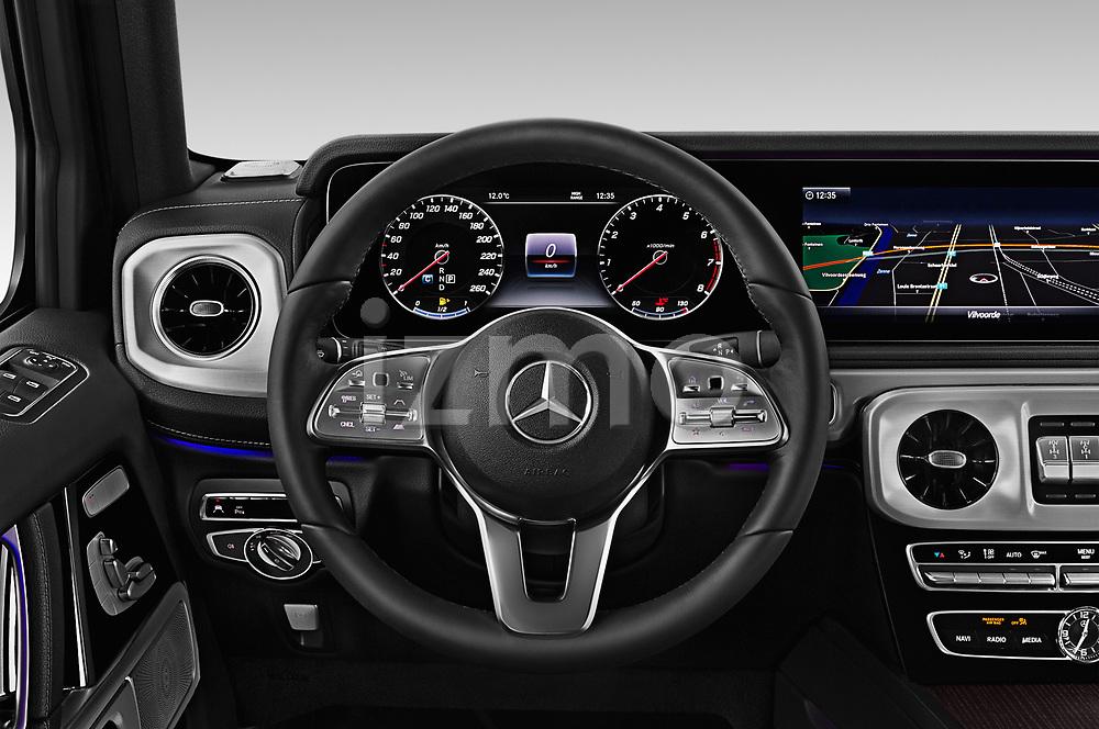 Car pictures of steering wheel view of a 2019 Mercedes Benz G-Class Base 5 Door SUV Steering Wheel
