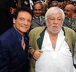MASSIMO RANIERI CON PAOLO VILLAGGIO<br /> PREMIO CONDOTTI PALAZZO TORLONIA ROMA 2009