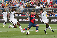 East Hartford, CT - Saturday July 01, 2017: John Boye, Dom Dwyer, Jerry Akaminko during an international friendly match between the men's national teams of the United States (USA) and Ghana (GHA) at Pratt & Whitney Stadium at Rentschler Field.