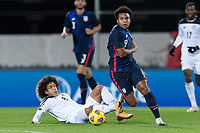 WIENER NEUSTADT, AUSTRIA - : Weston McKennie #8 of the United States turns and moves with the ball during a game between  at Stadion Wiener Neustadt on ,  in Wiener Neustadt, Austria.