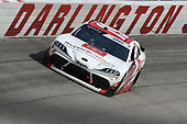 DARLINGTON, SOUTH CAROLINA - MAY 21: Brandon Jones, driver of the #19 Toyota Service Centers Toyota, races during the NASCAR Xfinity Series Toyota 200 at Darlington Raceway on May 21, 2020 in Darlington, South Carolina. (Photo by Jared C. Tilton/Getty Images)