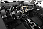 High angle dashboard view of a 2008 Toyota FJ Cruiser