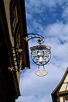 Bad Wimpfen: Sign on building.